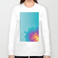 honeycomb Long Sleeve T-shirts featuring Honeycomb by AleyshaKate