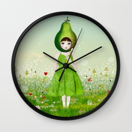 little pear Wall Clock