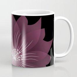 Burgundy flowers on black background . Coffee Mug