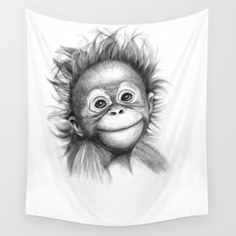 Monkey - Baby Orang outan 2016 G-121 Wall Tapestry