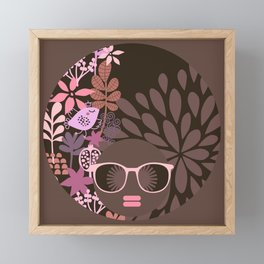 Afro Diva : Sophisticated Lady Pink Taupe Lavender Framed Mini Art Print