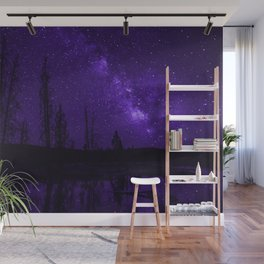 Milky Way Over Fire Hole Lake Wall Mural