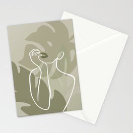 Plant Lady Figure Abstract Stationery Cards