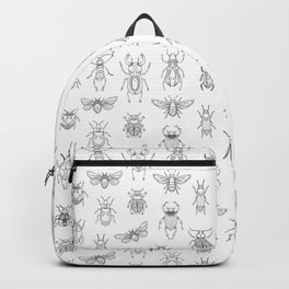 Insects pattern (White) Backpack