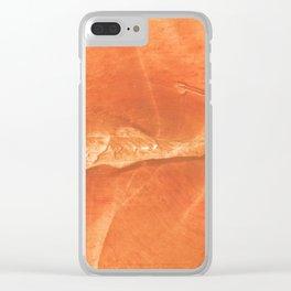 Orange watercolor Clear iPhone Case