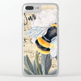 Save The Bees Collage Clear iPhone Case