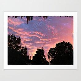 Slashed Sunset Art Print