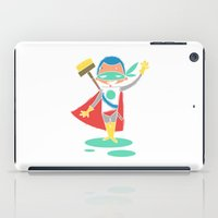 super hero iPad Cases featuring Super Hero 2 by La Lanterne