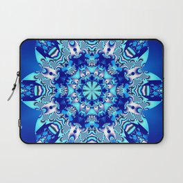 The blue snowflake Laptop Sleeve