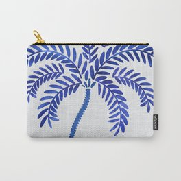 Cobalt Silhouette - Blue Palm Carry-All Pouch