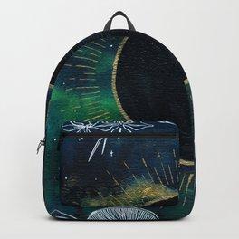 New Moon Original Mixed Media Painting Backpack