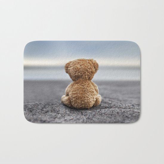 Teddy Blue Bath Mat