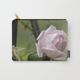 Life and Death Pink Rose Carry-All Pouch
