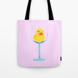 Fuzzy Wine Tote Bag