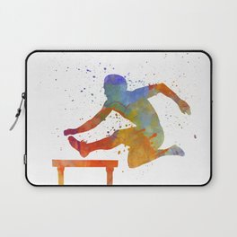 Man Athlete Jumping Over A Hurdles 01 Laptop Sleeve