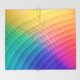 Spectrum Bomb! Fruity Fresh (HDR Rainbow Colorful Experimental Pattern) Throw Blanket