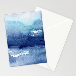 Blue Watercolour Ocean Stationery Cards