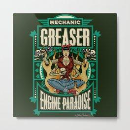 Mechanic Greaser Metal Print