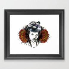 Record Head Framed Art Print