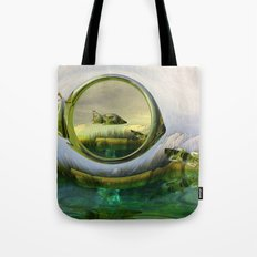 Slipping thru time like sun rays on glass Tote Bag