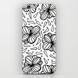 Flowers and Rain iPhone Skin
