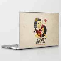 mozart Laptop & iPad Skins featuring Mozart - Stereophonic Sound   by Chamuko