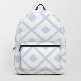 Periwinkle Abstract Diamond Pattern Design Backpack