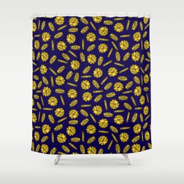 Golden Pirate Doubloon Pattern Shower Curtain