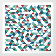 Triangles #3 Art Print