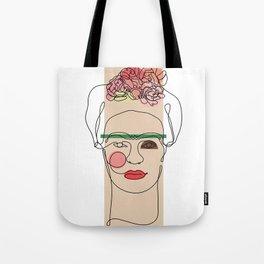 Frida Kahlo Line Art Tote Bag