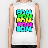 edm Biker Tanks featuring EDM (madness) by DropBass