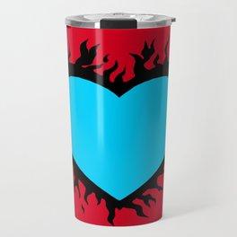 Flaming Heart Travel Mug