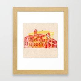 Letterpress Houses 2 Framed Art Print
