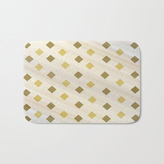 Shades Of Diamonds Abstract Bath Mat
