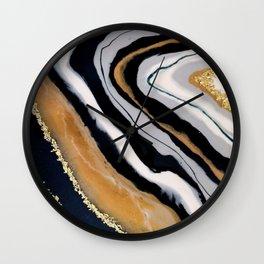 Navy Geode Resin Art Wall Clock