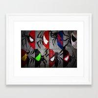 verse Framed Art Prints featuring Spider-Verse by JordanJBDesigns