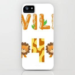 Let's go wild in turning 4 Safari iPhone Case