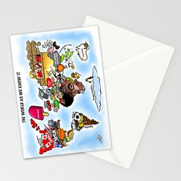 The World as we know it Stationery Cards