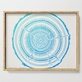 Quaking Aspen – Blue Ombré Tree Rings Serving Tray