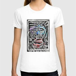 """Excuse me?"" Abstract Face Painting T-shirt"