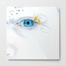 Behind Blue Eyes Metal Print