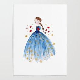 Valentino Heart Poster