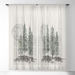 Full Moon Rising Sheer Curtain