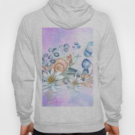 Snail and waterlily, Hoody