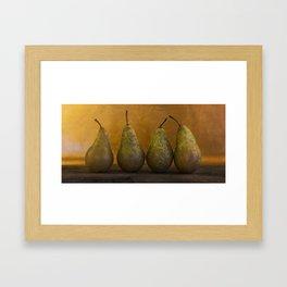 Four Pears Framed Art Print