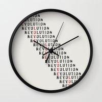 revolution Wall Clocks featuring Revolution by Skye Zambrana