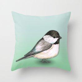 Cute Chickadee Throw Pillow