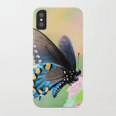 Spicebush Swallowtail Butterfly on Lantana iPhone X Slim Case