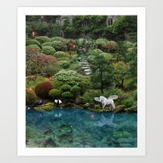 .....swimmingly Art Print