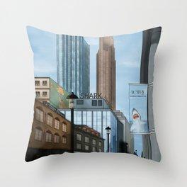 Mr. Shark Insurance Broker Ltd. Throw Pillow